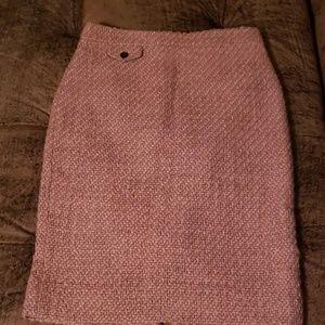 J crew tweed pink size 0 skirt new